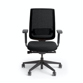 Black Reply Task Chair, Adjustable Arms, Adjustable Lumbar