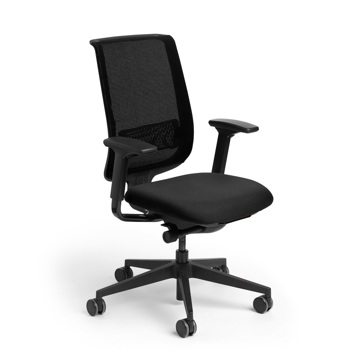 Black Reply Task Chair, Adjustable Arms, Adjustable Lumbar,Black,hi Res.  Loading Zoom