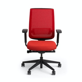 Red Reply Task Chair, Adjustable Arms, Adjustable Lumbar