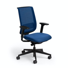 Blue Reply Task Chair, Adjustable Arms, Adjustable Lumbar