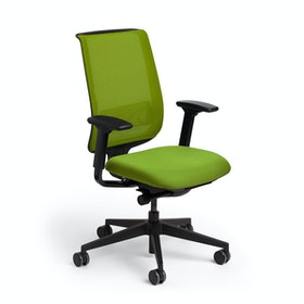 Green Reply Task Chair, Adjustable Arms, Adjustable Lumbar