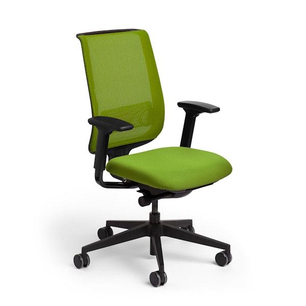 Green Reply Task Chair, Adjustable Arms, Adjustable Lumbar,Green,hi-res