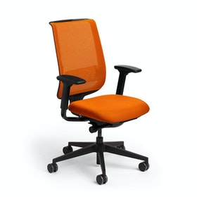Orange Reply Task Chair, Adjustable Arms, Adjustable Lumbar