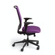 Purple Reply Task Chair, Adjustable Arms, Adjustable Lumbar,Purple,hi-res
