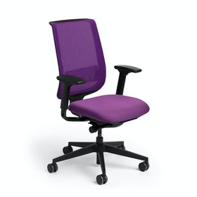 Purple Reply Task Chair, Adjustable Arms, Adjustable Lumbar