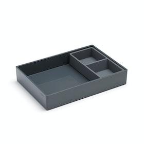 Dark Gray Double Tray,Dark Gray,hi-res
