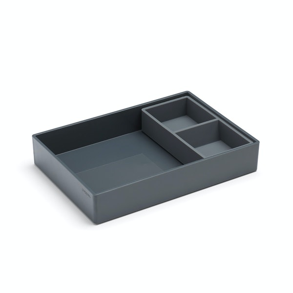 Dark Gray Double Tray,Dark Gray,hi-res