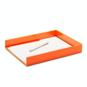 Orange Single Letter Tray