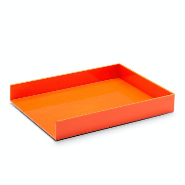 Orange Single Letter Tray,Orange,hi-res