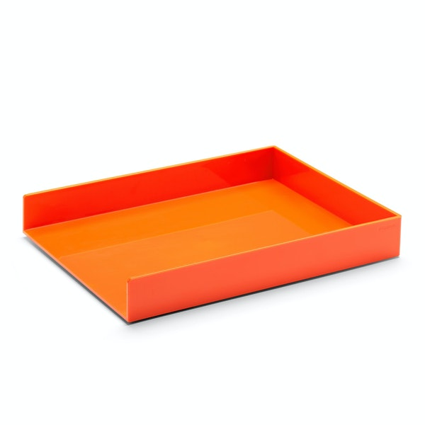Orange Single Letter Tray,Orange,hi-res