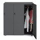 Charcoal Stash 3-Door Coat Locker,Charcoal,hi-res