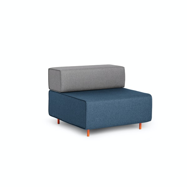 Dark Blue + Gray Block Party Lounge Chair,Dark Blue,hi-res