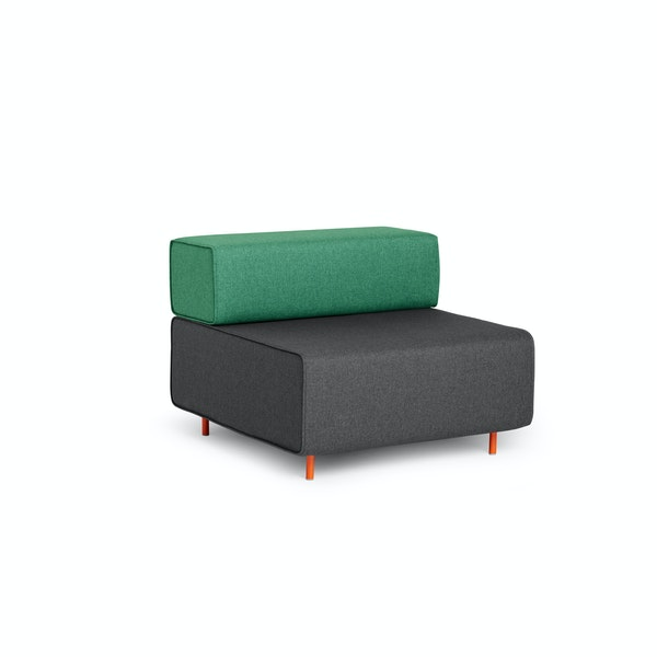 Dark Gray + Grass Block Party Lounge Chair,Dark Gray,hi-res