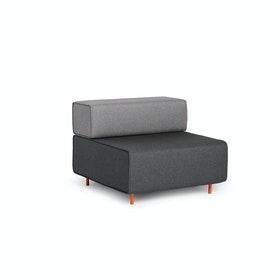 Dark Gray + Gray Block Party Lounge Chair
