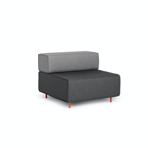 Dark Gray + Gray Block Party Lounge Chair,Dark Gray,hi-res