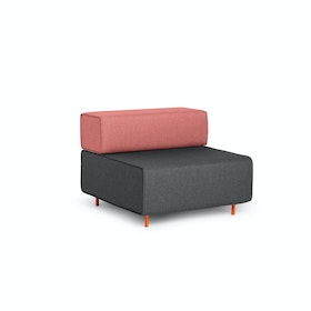 Dark Gray + Rose Block Party Lounge Chair
