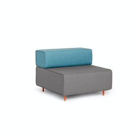 Gray + Blue Block Party Lounge Chair