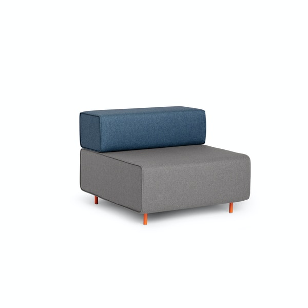 Gray + Dark Blue Block Party Lounge Chair,Gray,hi-res