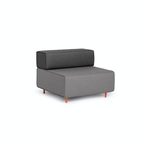 Gray + Dark Gray Block Party Lounge Chair