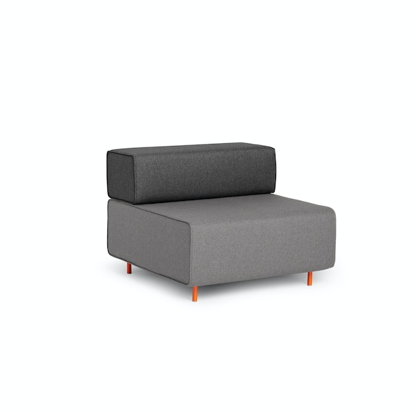 Gray + Dark Gray Block Party Lounge Chair,Gray,hi-res