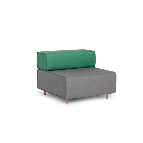 Gray + Grass Block Party Lounge Chair,Gray,hi-res