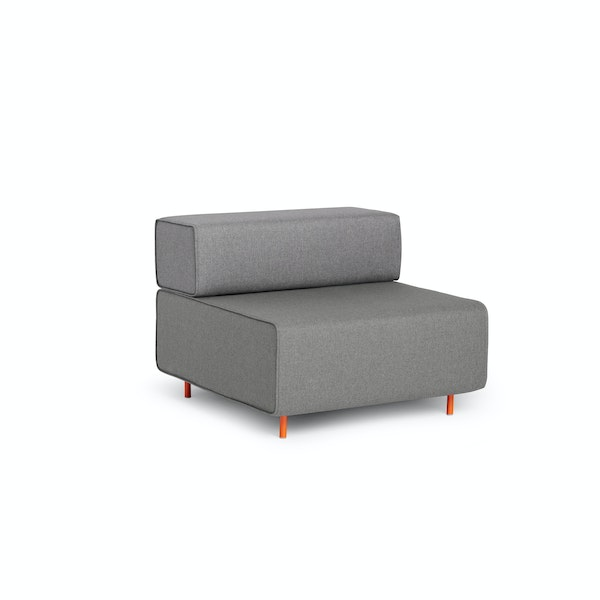 Gray + Gray Block Party Lounge Chair,Gray,hi-res