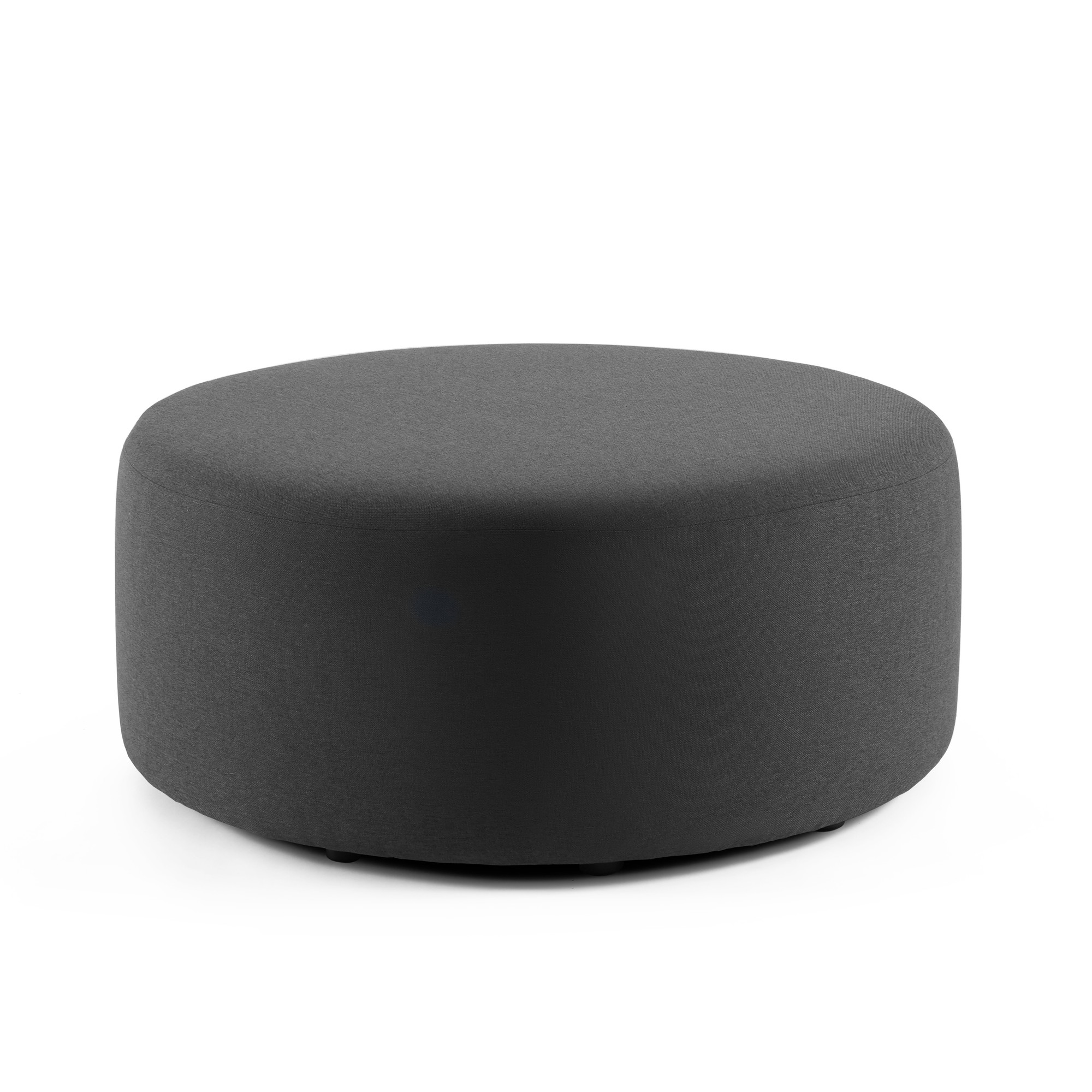 Awesome Dark Gray Block Party Lounge Round Ottoman 40 Office Furniture Poppin Cjindustries Chair Design For Home Cjindustriesco