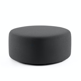 Dark Gray Block Party Lounge Round Ottoman, 40""