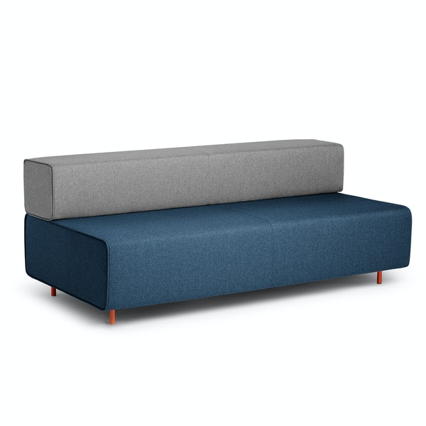 Dark Blue + Gray Block Party Lounge Sofa,Dark Blue,hi-res