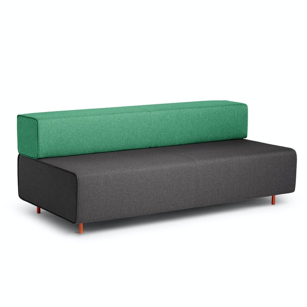 Dark Gray + Grass Block Party Lounge Sofa,Dark Gray,hi-res