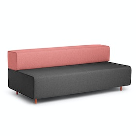 Dark Gray + Rose Block Party Lounge Sofa,Dark Gray,hi-res