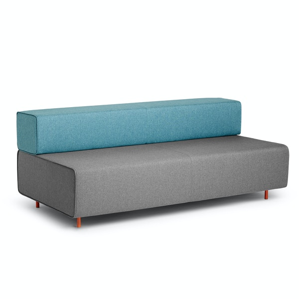 Gray + Blue Block Party Lounge Sofa,Gray,hi-res
