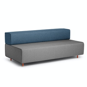 Gray + Dark Blue Block Party Lounge Sofa,Gray,hi-res