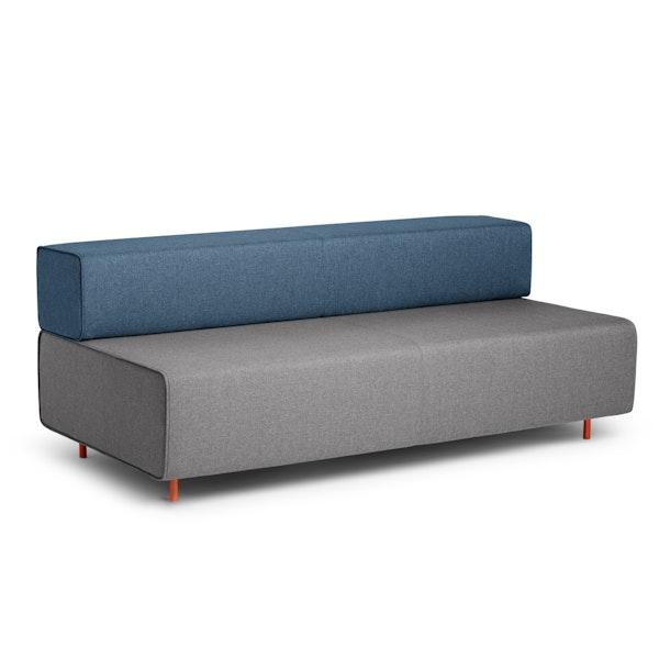 Gray + Dark Blue Block Party Lounge Sofa,Gray,hi-res