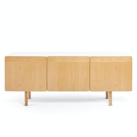 "Natural Ash Cleo Credenza 70"" Add On Door,Natural Ash,hi-res"