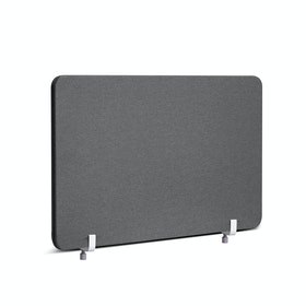 "Dark Gray Pinnable Fabric Privacy Panel, 27 x 16.5"", Endcap"