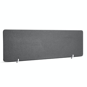 "Dark Gray Pinnable Fabric Privacy Panel, 55 x 17.5"", Endcap"