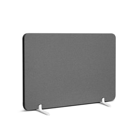 "Dark Gray Pinnable Fabric Privacy Panel, 27 x 16.5"", Footed,Dark Gray,hi-res"