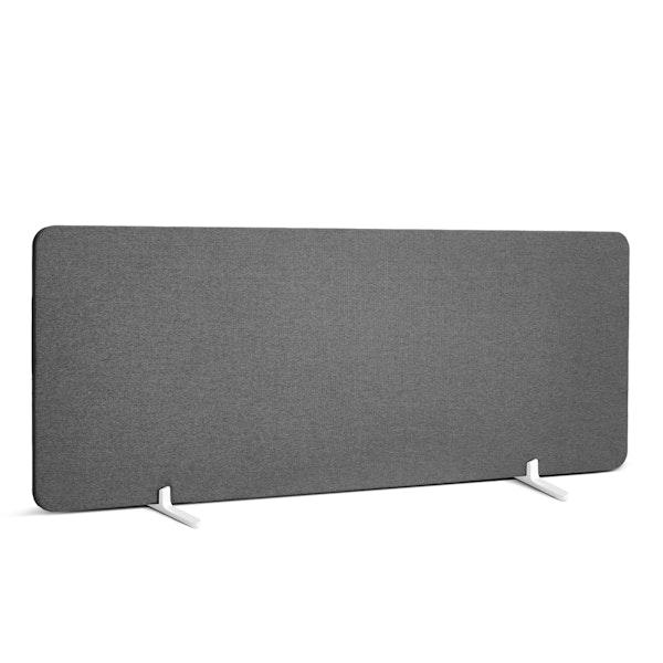 "Dark Gray Fabric Privacy Panel, Footed, 45"",Dark Gray,hi-res"