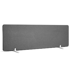 "Dark Gray Pinnable Fabric Privacy Panel, 55 x 17.5"", Footed"