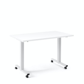 "Irons Flip Top Training Table, White, 47"", White Legs"