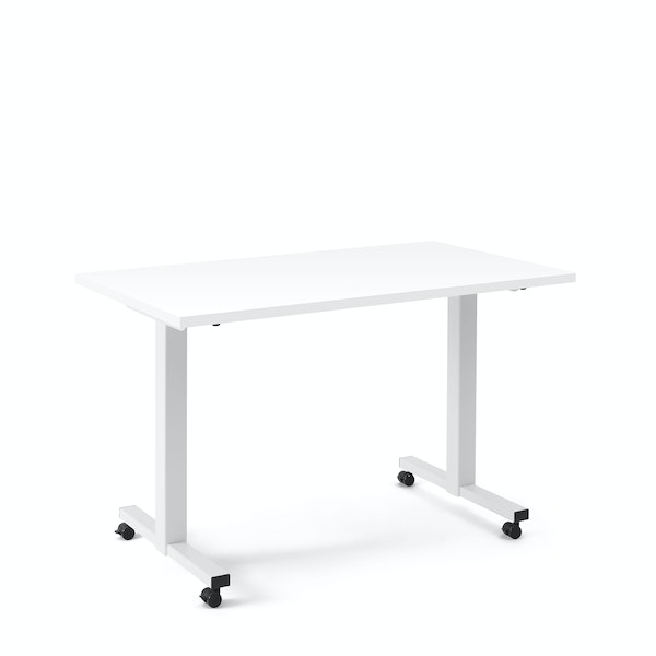 "Irons Flip Top Training Table, White, 47"", White Legs,White,hi-res"