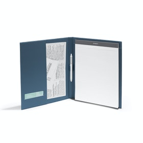 Storm Velvet Large Padfolio with Writing Pad