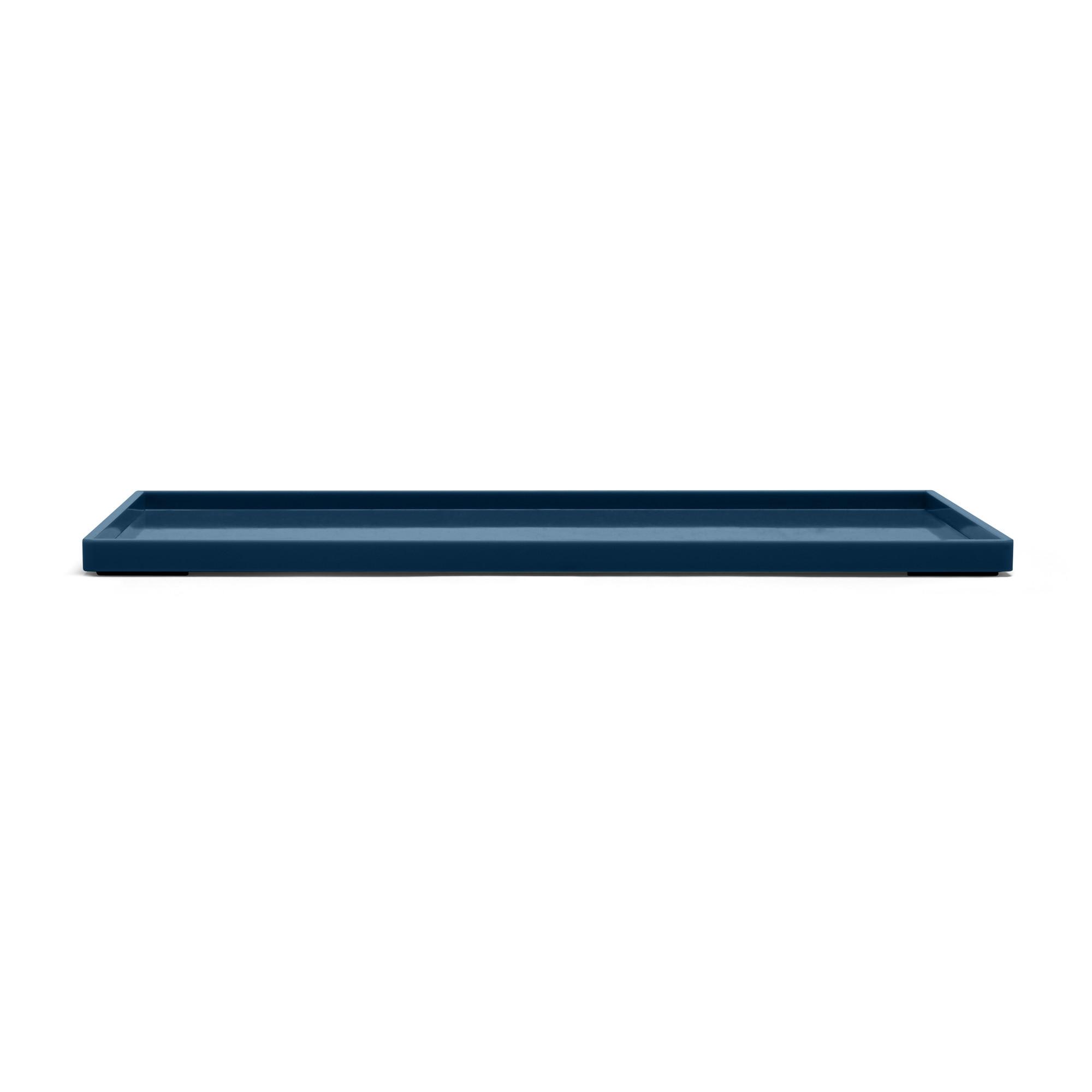Slate Blue Large Slim Tray Desk Accessories Organization Poppin