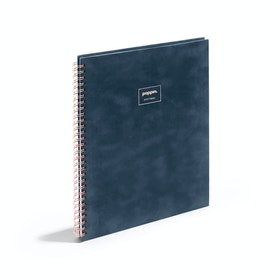 Storm Velvet Large Spiral Notebook