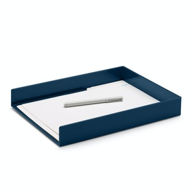 Slate Blue Single Letter Tray