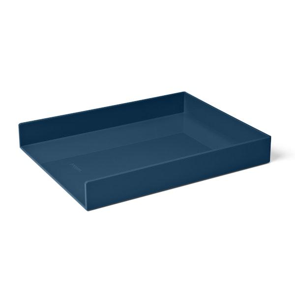 Slate Blue Single Letter Tray,Slate Blue,hi-res