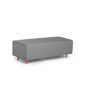 Gray Block Party Lounge Bench,Gray,hi-res