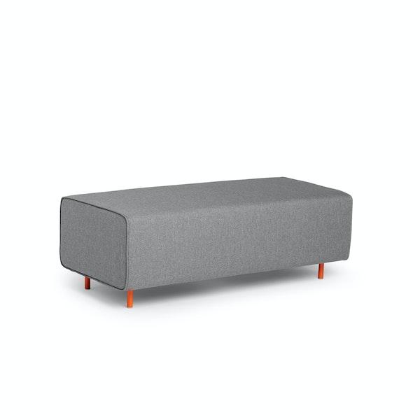 Gray Block Party Lounge Bench,Gray,hi-res