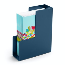 Slate Blue Magazine File Box,Slate Blue,hi-res